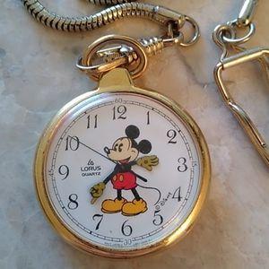 Disney Mickey Mouse Pocket Watch by Lorus (Seiko)